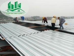 Thi Công thay mái tôn nhà xưởng tại Thuận An